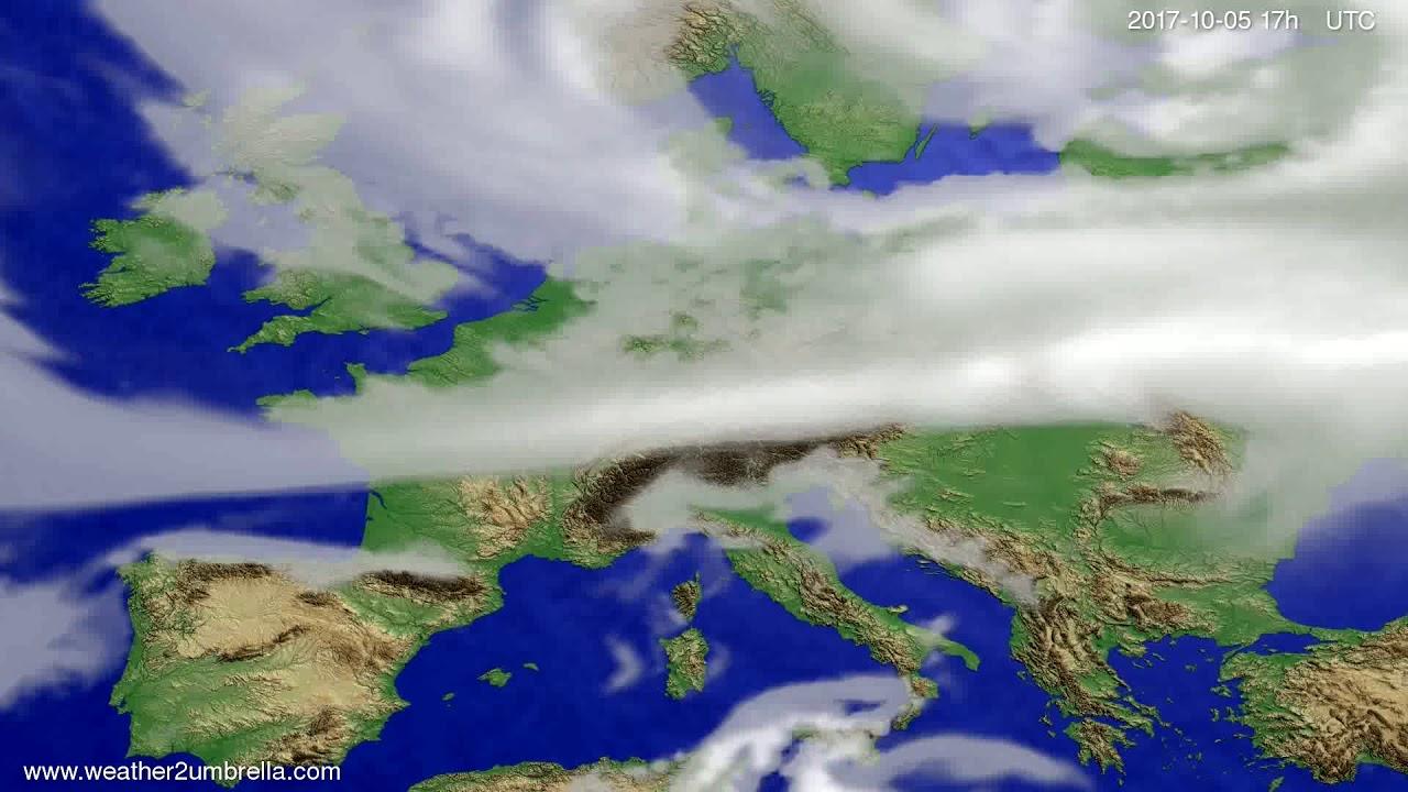 Cloud forecast Europe 2017-10-03