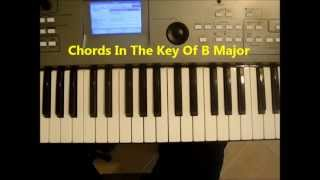 Chords In The Key Of B Major On Piano