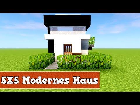 Wie Baut Man Ein Kleines Modernes Haus In Minecraft Minecraft Modernes Haus  Bauen Deutsch