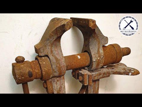 [Restoration] Rusty Imprecise Leg Vice