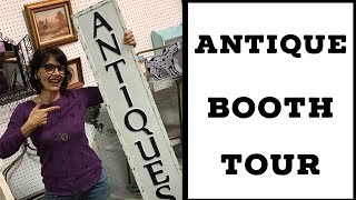 Antique Booth Tour After My First 30 Days! | Current Antique Booth Display May  2019