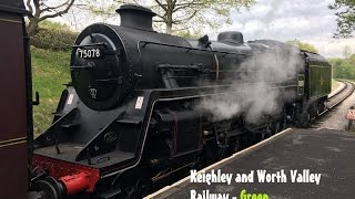 Keighley & Worth Valley Railway - Green Timetable - 13/05/17