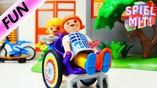 Playmobil Story Deutsch | Unfall - Wettrennen mit Skateboard und Fahrrad endet im Krankenhaus
