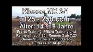 preview picture of video 'Motocross-Rennen Klasse MX 2/1 - bis 250ccm - MSC-Eichenried 2013'