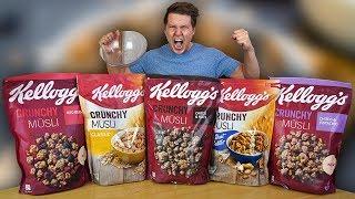 5 Packungen Kellogg`s Crunchy Müsli