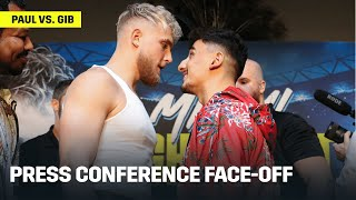 "Jake Paul & AnEsonGib Exchange Words And ""Shoves"" During Face-Off At Press Conference"