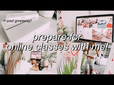 HOW TO GET READY FOR ONLINE CLASSES! | iPad + APPLE ...