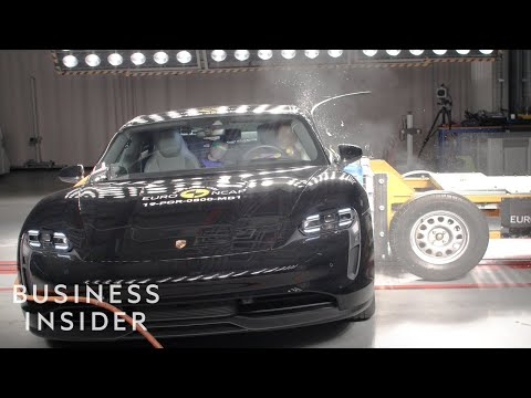 Why Porsche's Taycan Received A 5-Star Crash-Test Rating