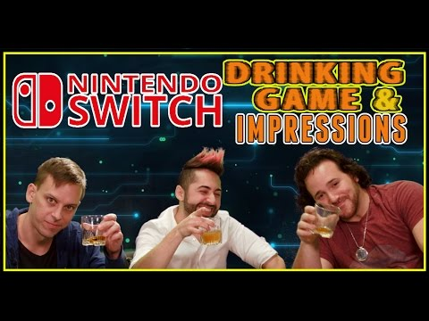Nintendo Switch - Drinking Game & Impressions - Drunk Tech Review