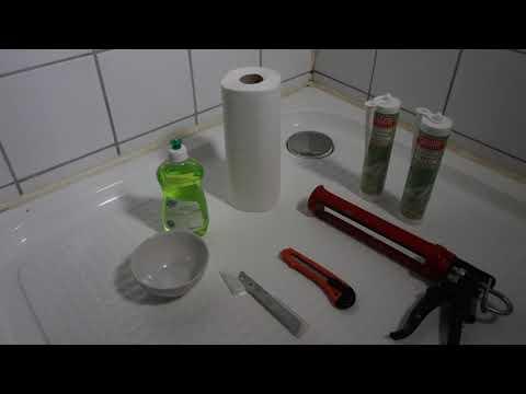 Silikonfuge / Fuge in Dusche oder Badewanne erneuern - neu verfugen