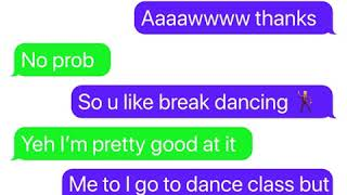 Cute boy asks girl out text story