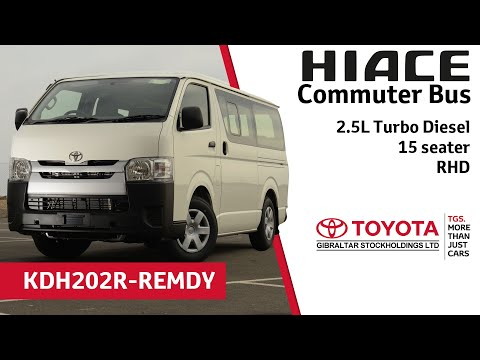 Toyota Hiace Commuter Bus - 2.5 Turbo Diesel - 15 seater - RHD