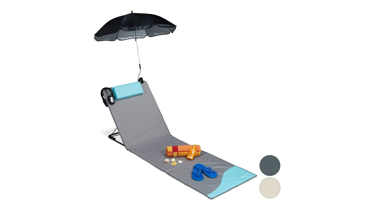 Video von: Strandmatte mit Sonnenschirm