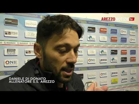 Carrarese-Arezzo 2-2, intervista a Di Donato