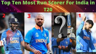 Top Ten Most Run Scorer For India in T20 - Download this Video in MP3, M4A, WEBM, MP4, 3GP
