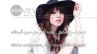 Carly Rae Jepsen  - Tonight I m Getting Over You مترجمة