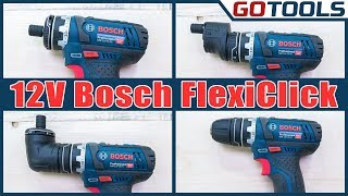 Bosch Akkuschrauber GSR 12V-15FC - FlexiClick - der Alleskönner im Test !