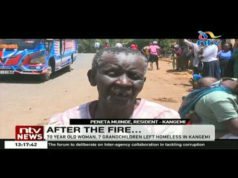 70 year old woman, 7 grandchildren left homeless in Kangemi after fire that broke out in the area