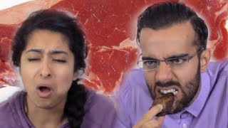 INDIANS EAT BEEF FOR THE FIRST TIME  PINKY & RUPESH
