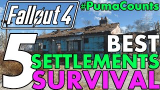 Top 5 Best Settlements for Fallout 4's Survival Mode 1.5 Update Guide #PumaCounts
