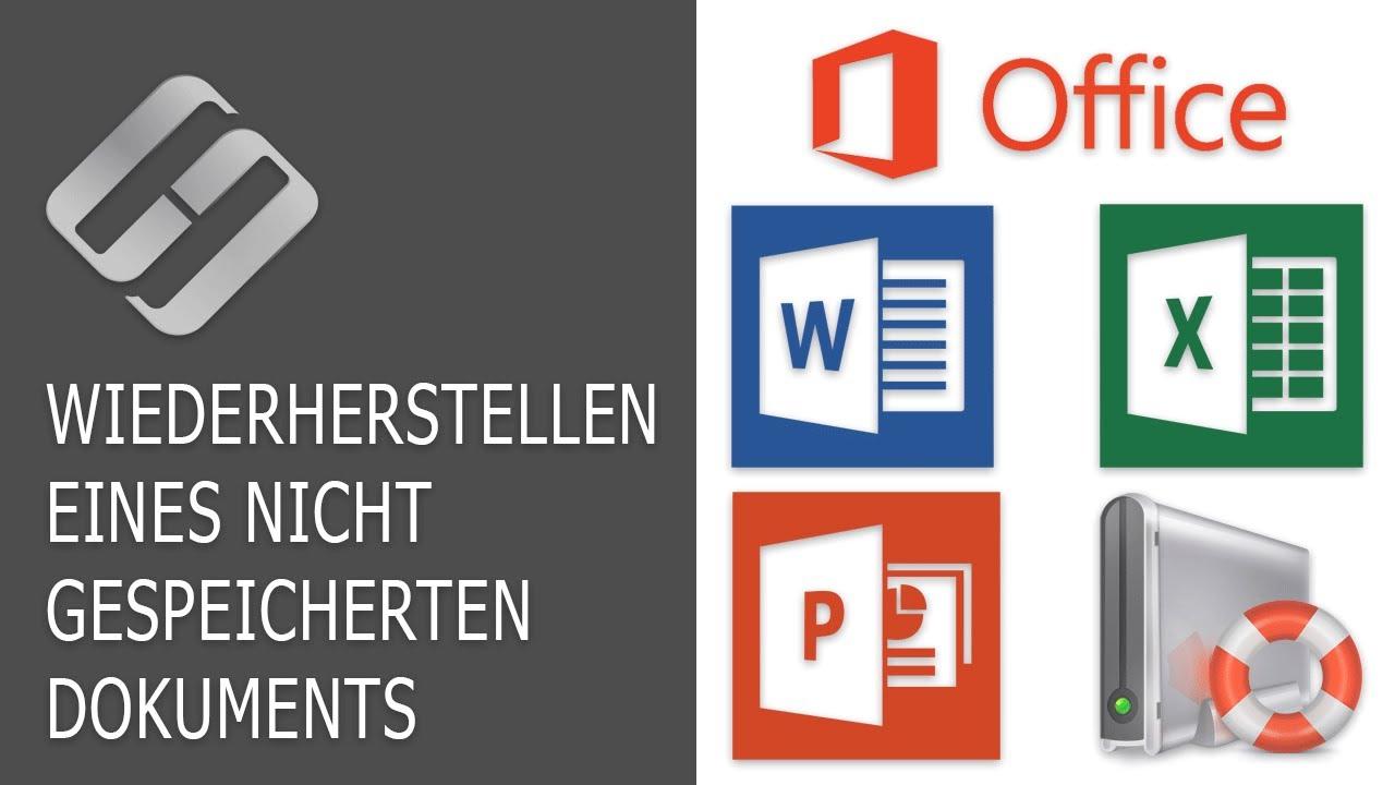 Wiederherstellen eines nicht gespeicherten oder beschädigten Word-, Excel-, PowerPoint-Dokuments