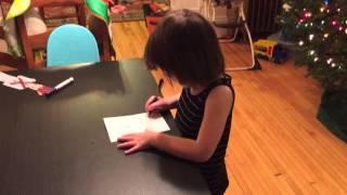 Writing Grandma's Christmas Card