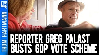 """""""GET OUT OF MY HOUSE"""" Reporter Greg Palast Busts a GOP Scheme"""