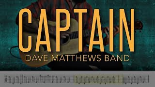 Captain - Dave Matthews Band |HD Guitar Tutorial With Tabs