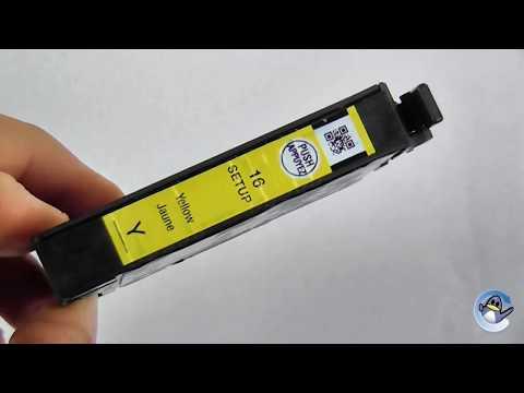 Inside Epson 16 Yellow Setup Ink Cartridge