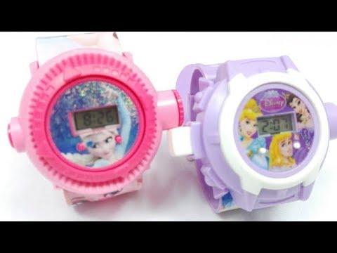 Reloj Mágico de Frozen y Princesas Disney. Reloj Para Niñas