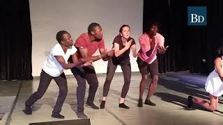 The Origins Dance Company performed a contemporary dance piece as