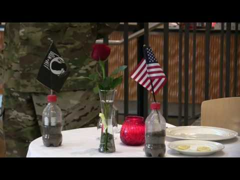Missing Man Table Ceremony at Fort Lewis College