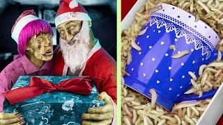 Granny Is A Zombie! 13 Zombie Christmas Hacks!