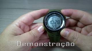 MCStore Jam Tangan Pria SKMEI Sport Watch Silicone Strap Water Resistant 50m - 11671 - Black Silver