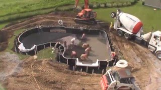 North Eastern Pool Install Webster NY Time Lapse