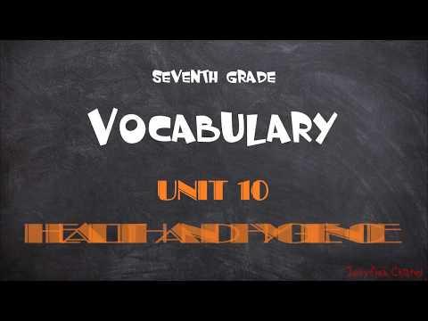 Anh Văn 7 (7 năm) - Vocabulary (từ vựng) - Unit 10 Health and hygience