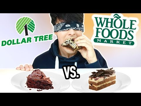 DOLLAR STORE vs. WHOLE FOODS blind taste test!!!