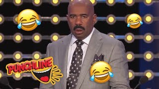 😂 STEVE HARVEY'S FUNNIEST MOMENTS On Family Feud USA! 😂TRY NOT TO LAUGH!