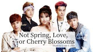 HIGH4, IU - 봄 사랑 벚꽃 말고(Not Spring, Love, or Cherry Blossoms) Lyrics [Rom/Hangul/Eng][128kbps]
