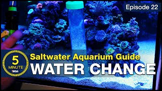 5 Minute Saltwater Aquarium Guide Episode #22 - Water Changes