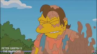 The Simpsons Bart beats up Nelson