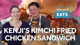 Kenji's Kimchi-Brined Fried Chicken Sandwich | Serious Eats