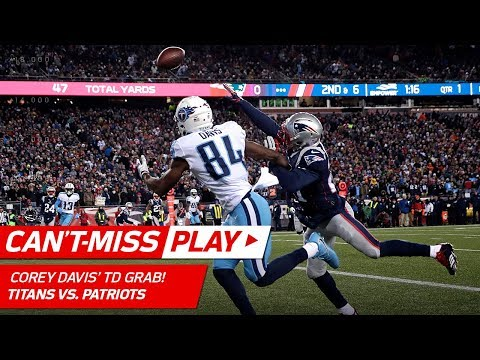 Corey Davis' One-Handed Sliding TD Catch! | Can't-Miss Play | NFL Divisional Round HLs