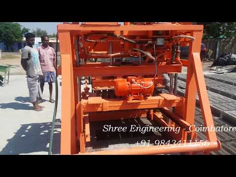 Automatic Feeder Concrete Block Making Machine