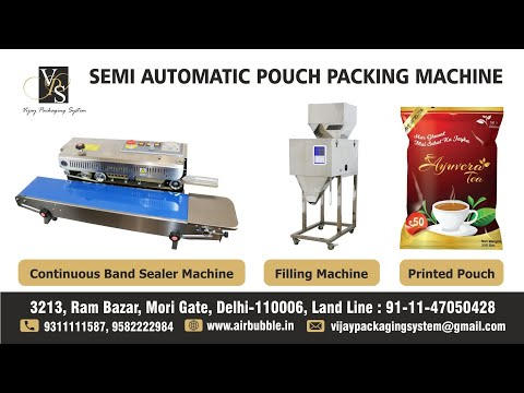Continuous Band Sealing Machine for Pouches Vertical