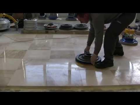 EASY KIT FOR POLISHING MARBLE FLOORS: SUPERSHINE & SPONGELUX