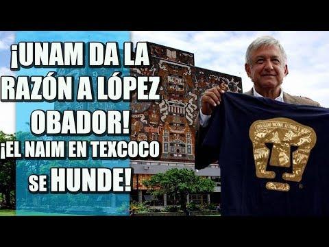 ¡NAIM EN TEXCOCO SE HUNDE! UNAM DA LA RAZÓN A LÓPEZ OBRADOR, CORRUPTOS FURIOSOS