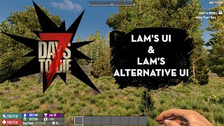7 Days to Die Lam's Modlets UI and Alternative UI