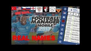Football Manager Mobile 2018-Real names patch-Download free