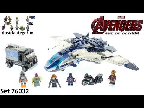 Vidéo LEGO Marvel 76032 : La poursuite en ville du Quinjet des Avengers